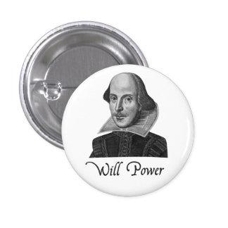 William Shakespeare Will Power 3 Cm Round Badge