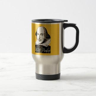 William Shakespeare Will Power T shirt Stainless Steel Travel Mug