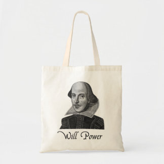William Shakespeare Will Power Tote Bag