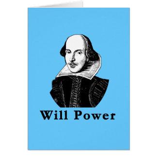 William Shakespeare WILL POWER Tshirts Card