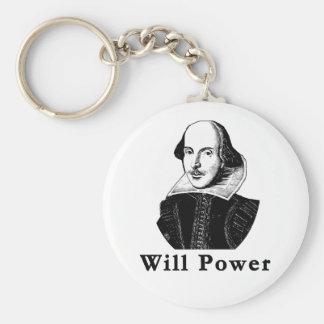 William Shakespeare WILL POWER Tshirts Key Ring