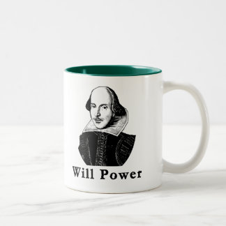 William Shakespeare WILL POWER Tshirts Two-Tone Coffee Mug