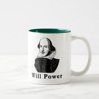 William Shakespeare WILL POWER Tshirts Two-Tone Mug