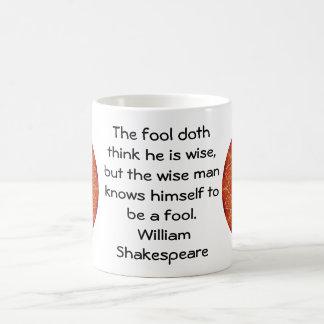 William Shakespeare Wisdom Quotation Saying Basic White Mug