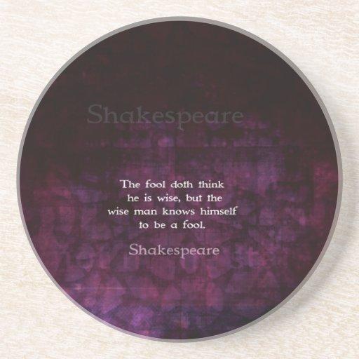 William Shakespeare Wisdom Quotation Saying Coasters