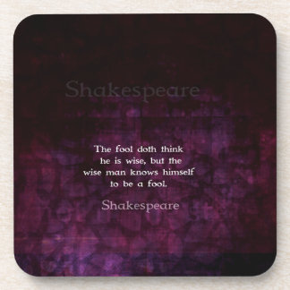 William Shakespeare Wisdom Quotation Saying Beverage Coasters