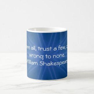 William Shakespeare Wisdom Quotation Saying Coffee Mug