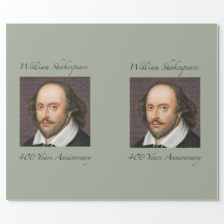 William Shakespeare wrapping paper. Wrapping Paper