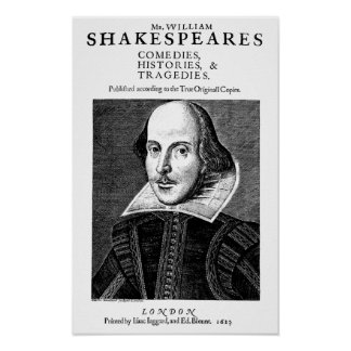 William Shakespeare's First Works Print