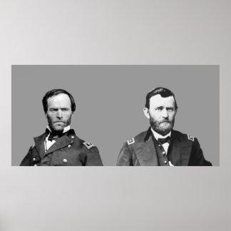 William Sherman and U.S. Grant Poster