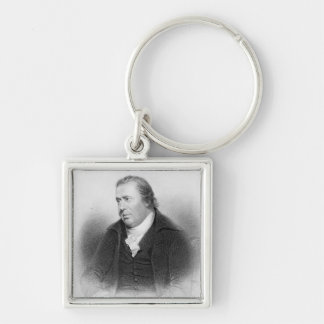 William Smellie, engraved by Henry Bryan Hall Silver-Colored Square Key Ring