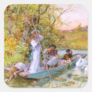 William Stephen Coleman: The Boating Square Sticker