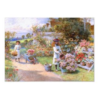 William Stephen Coleman: The Flower Garden 13 Cm X 18 Cm Invitation Card