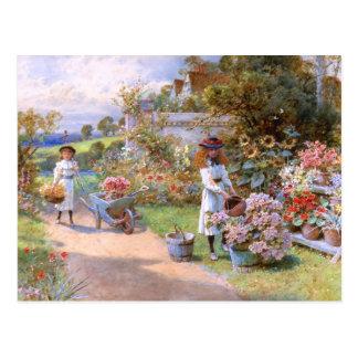 William Stephen Coleman: The Flower Garden Postcard