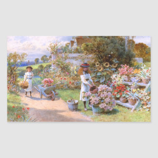 William Stephen Coleman: The Flower Garden Rectangular Sticker