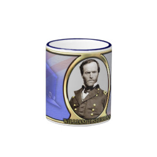 William T. Sherman Civil War Coffee Ringer Mug