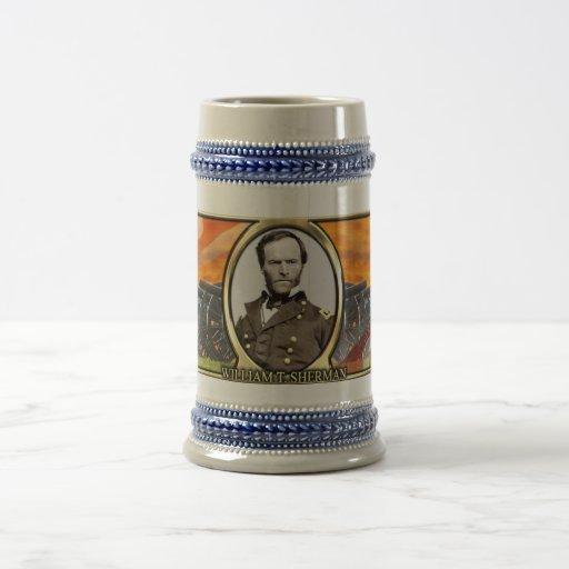 William T. Sherman Civil War Stein Coffee Mug