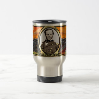 William T. Sherman Civil War Travel Mug