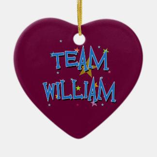 WILLIAM Team William Ceramic Heart Decoration
