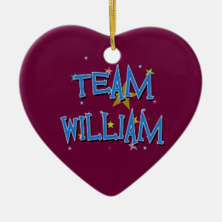 WILLIAM Team William Christmas Tree Ornaments