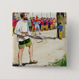 William Tell, from 'Peeps into the Past', publishe 15 Cm Square Badge