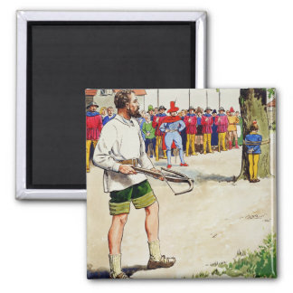 William Tell, from 'Peeps into the Past', publishe Square Magnet