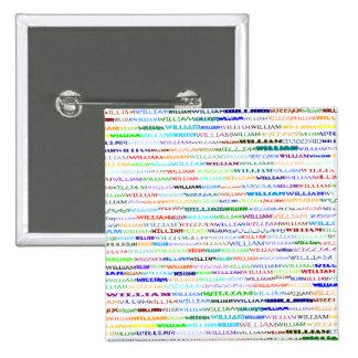 William Text Design II Square Button