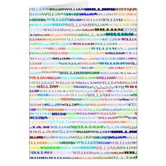 William Text Design II Vertical Greeting Card