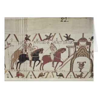 William the Conqueror  arrives at Bayeux Greeting Card