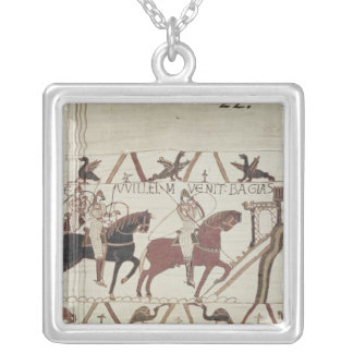 William the Conqueror  arrives at Bayeux Silver Plated Necklace