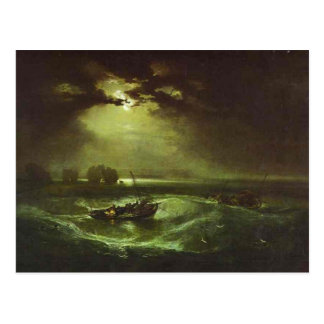 william turner - fishermen at sea postcard
