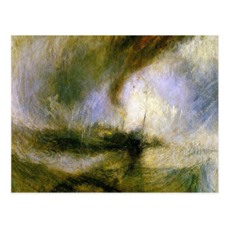 william turner - snowstorm postcard
