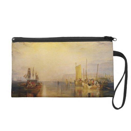 William Turner:Sunrise, Whiting Fishing at Margate Wristlet Purse