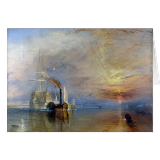 William Turner: Temeraire tugged to last berth Card