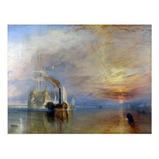 William Turner: Temeraire tugged to last berth Postcards