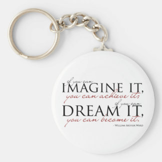 William Ward Imagine Quote Basic Round Button Key Ring