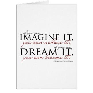 William Ward Imagine Quote Card