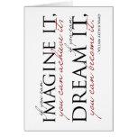 William Ward Imagine Quote Note Card