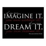 William Ward Imagine Quote Post Cards