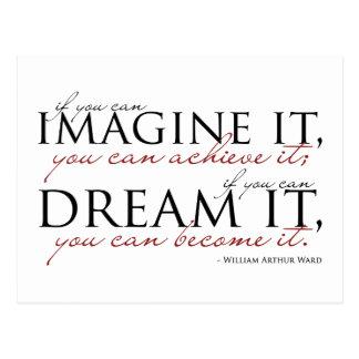 William Ward Imagine Quote Postcard