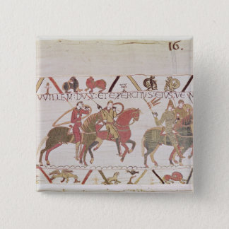 William's  army going to Mont Saint-Michel 15 Cm Square Badge