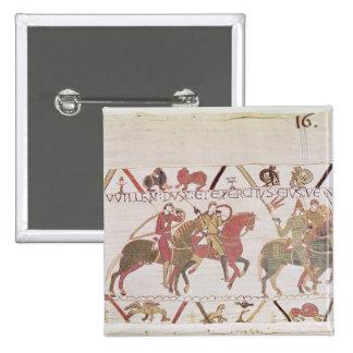 William's  army going to Mont Saint-Michel 15 Cm Square Badge