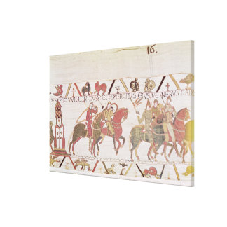 William's  army going to Mont Saint-Michel Gallery Wrap Canvas