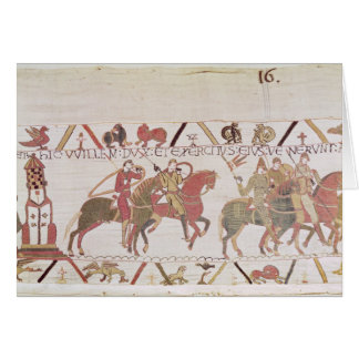 William's  army going to Mont Saint-Michel Greeting Card