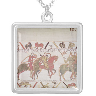 William's  army going to Mont Saint-Michel Square Pendant Necklace