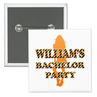 William's Bachelor Party Buttons