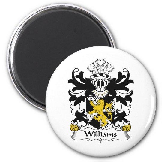 Williams Family Crest 6 Cm Round Magnet