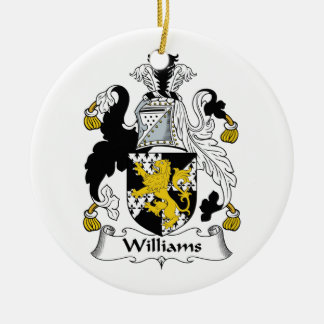 Williams Family Crest Christmas Ornament
