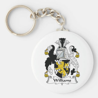 Williams Family Crest Key Ring