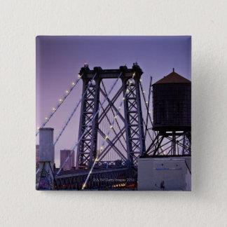 Williamsburg Bridge 15 Cm Square Badge